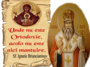 Sf Ignatie Briancianinov-acolo unde nu e ortodoxie nu e nici mantuire